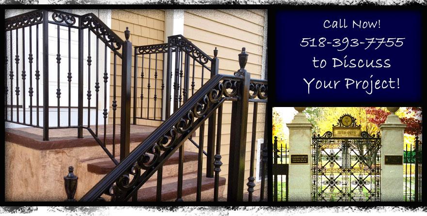 Fencing And Gates Troy  Custom Wrought Iron Fence Railings Gates Armando & Sons Saratoga Springs Troy NY